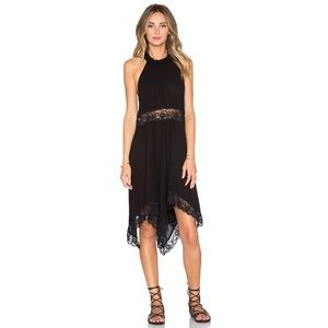 Free People Go Lightly Slip Dress in Black